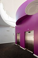 Entrance foyer and lift doors of the Eastpoint Centre, Southampton