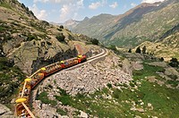 France, Pyrenees Atlantiques, Ossau valley, Artouste the little train of Artouste, highest in Europe