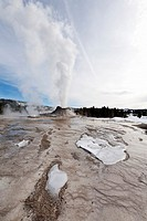 Castle Geyser, Erupting, Yellowstone NP, WY