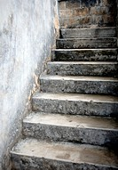 weathered stairs leading up