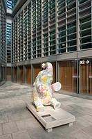 Italy, Lombardy, Milan, the Palazzo della Regione, art sculpture ...