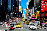 USA, New York, NYC, Taxis                                                                                                                             ...