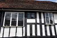 Timber framed building detail in St Albans , Hertfordshire , England , UK