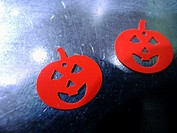 Pumpkin stickers on the day of halloween