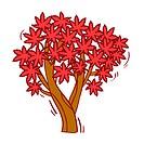 Illustration of tree against white background