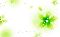 Illustration of abstract green and shiny flowers