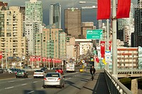 Granville Street Bridge, looking toward downtown Vancouver, BC, Canada
