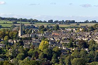 Early signs of Autumn colour around the Cotswold village of Painswick, Gloucestershire, UK