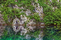 Karst lake in Plitvice National Park