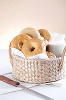 Close_up Of Bakery Items With A Basket