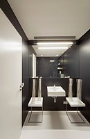 Modern showcase interior of bathroom