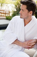 Man in bathrobe (thumbnail)