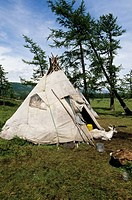 The Dukha Tsaatan are a small culture of reindeer herders living in northern Kh&#246;vsg&#246;l Aimag of Mongolia