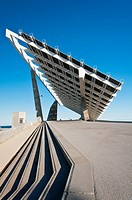 Esplanade and photovoltaic plant Martinez Lapena, Forum, Barcelona, Catalonia, Spain
