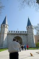 Gates at Topkapi Palace, Istanbul, Turkey
