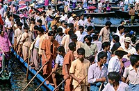 Boat festival on Inle Lake, Myanmar