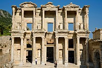 Library of Celsus at Ephesus, an ancient Greek city, and later a major Roman city, on the west coast of Asia Minor, near present_day Selçuk, Izmir Pro...
