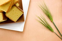 Slice of Sponge Cake with Barley