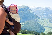 Woman baby carrying