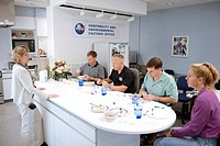 Space Shuttle final flight crew. STS_135 crew members participating in a food tasting session before their mission. From left: Shuttle Food System man...