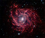 Spiral galaxy IC 342, composite optical image from NASA´s Spitzer Space Telescope. IC 342 is a spiral galaxy that appears similar to our own galaxy, t...