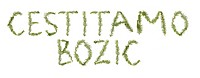 Spruce twigs forming the phrase ´Cestitamo Bozic´