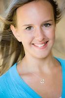 Portrait Of Tween Girl Smiling