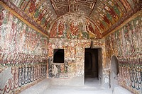 The single storey church was carved into a rock. Its frescoes are dated to the end the 9th century or the 11th century.