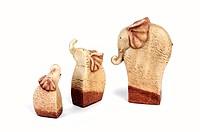 ceramic elephants family