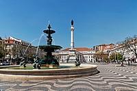 Praca Dom Pedro IV, Lisbon, Portugal, Europe