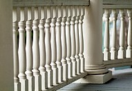 railing on a heritage house