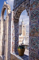 Detail of the Zitouna mosque at the old town, Tunis, Tunesia, Africa