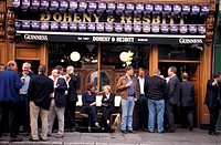 People in front of the Doheny &amp, Nesbit Pub, Dublin, Ireland, Europe