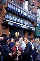 People in front of the Doheny &amp,amp, Nesbit Pub, Dublin, Ireland, Europe