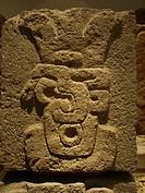 Zapotec stella. Museum Monte Albán archeological site. Oaxaca. Mexico.