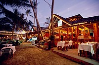 Restaurant on the beach of Cabarete, Dominican Republic, Caribbean