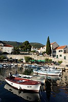 Boats in harbor, Bol, Brac, Split_Dalmatia county, Croatia