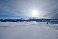 Ski slope, Rittner Horn, Alto Adige, South Tyrol, Italy