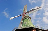 Venti Amica, a Dutch gallery windmill, Hollern_Twielenfleth, Altes Land, Lower Saxony, Germany, Europe
