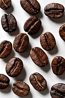 The close_up of the coffee bean