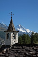 Church tower in the Alps