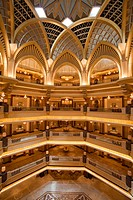 Atrium of Emirates Palace hotel, Abu Dhabi, United Arab Emirates