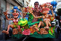 Traditional grotesque carts at Acireale Carnival, Catania, Sicily, Italy