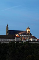 Benedictine Monastery of Comburg, Grosscomburg, Steinbach near Schwaebisch Hall, Baden_Wuerttemberg, Germany, Europe, PublicGround