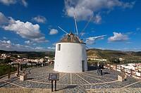 Windmill, Sanlucar de Guadiana, Huelva-province, Spain, Left Alcoutim-Portugal