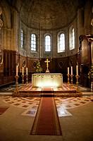 illuminated altar