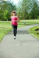 Jogger running in park