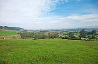 green valley in asturias