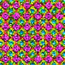 pink flower mosaic