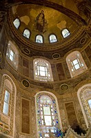 Inside of Santa Sophia church. City of Istanbul, Turkey